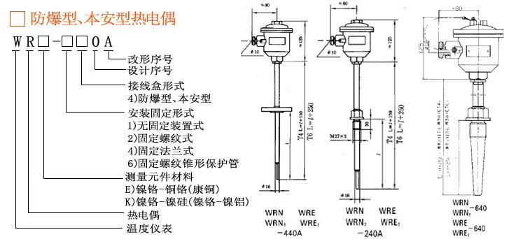 ·隔爆型,本安型热电偶的防爆标志表示方法